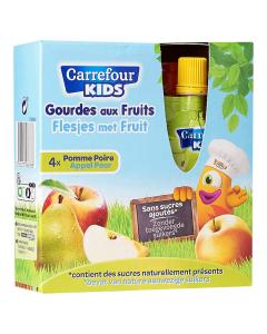 Piure de mere si pere 4x90g Carrefour Kids