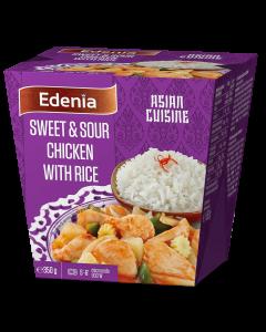 Pui  dulce-acrisor cu orez jasmine Edenia 350g