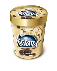 Inghetata cookies & cream Nirvana 850ml