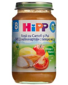 Piure cu rosii, cartofi si pui 8 luni+ Hipp 220g