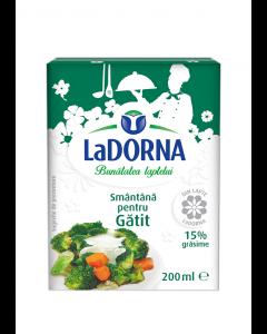 Smantana pentru gatit 15% grasime Dorna 200ml
