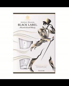 Pachet Whisky Johnnie Walker Black Label 700ml + 2 Pahare