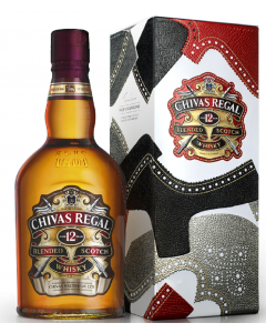 Whisky in cutie metalica Chivas Regal 12 ani 0.7L