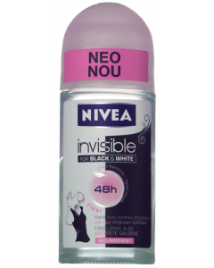 Deo roll-on anti-perspirant Nivea Invisible for Black&White Clear 50ml