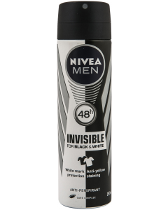 Anti-perspirant invisible Nivea men 150 ml