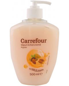 Sapun lichid crema migdale Carrefour 500ml