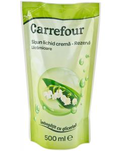 Sapun lichid crema lacramioare rezerva Carrefour 500ml