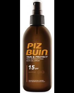 Ulei spray pentru bronzare accelerata si protectie a bronzului 15 SPF Piz Buin 150ml