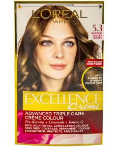 Vopsea de par L'Oreal Excellence Creme 5.3 - Natural Golden Brown