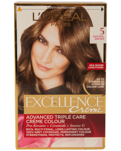 Vopsea de par natural brown Excellence L'Oreal Paris 1buc