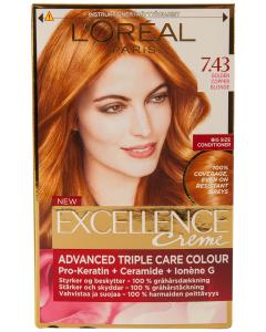 Vopsea de par golden copper blonde Excellence L'Oreal Paris 1 buc
