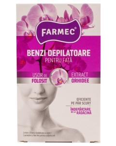 Benzi depilatoare pentru fata cu orhidee Farmec 20buc