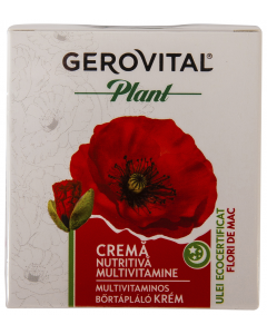 Crema nutritiva multivitamine Gerovital Plant 50ml