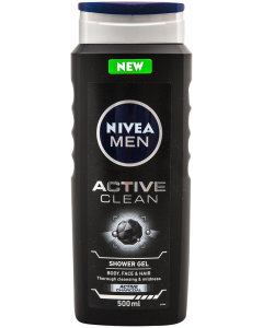 Gel de dus si par Active Clean Nivea Men 500 ml