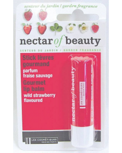 Balsam de buze stick cu aroma de capsuni salbatice Les Cosmetiques Nectar of Nature 4 g