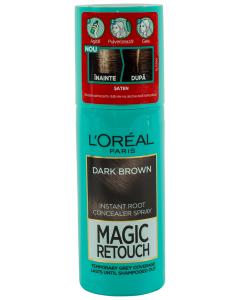 Spray instant pentru camuflarea radacinilor crescute intre colorari 2 Saten inchis L'Oreal 75ml