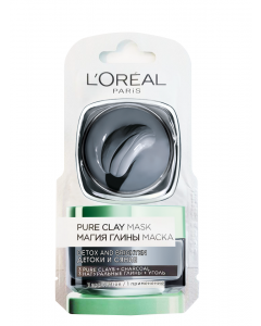 Masca de fata revitalizanta pentru iluminarea tenului cu extract de carbune L'Oréal Paris Pure Clay 6ml
