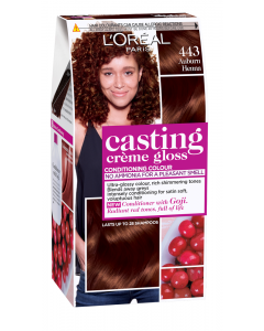 Vopsea de par Auburn Henna 443 L'oreal Casting Crème Gloss 180ml