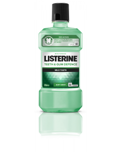 Apa de gura Teeth & Gum Defence fara alcool Listerine 500ml