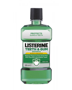 Apa de gura Teeth & Gum Defence Listerine 500ml