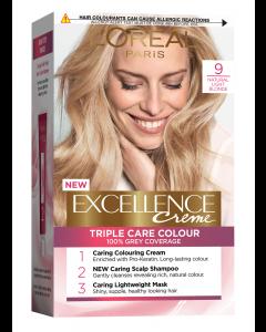 Vopsea de par blond foarte deschis 9 L'Oreal Excellence Creme 192ml