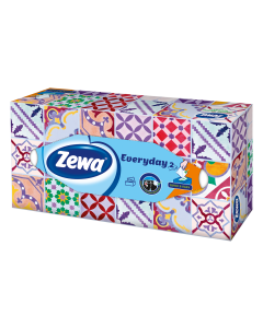 Servetele faciale Zewa Everyday, 2 straturi, 100 bucati
