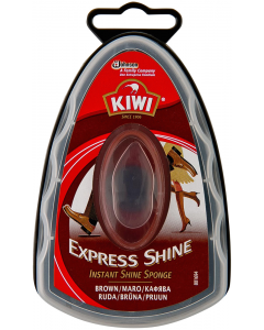 Burete cu silicon Kiwi Express Shine 7ml, maro