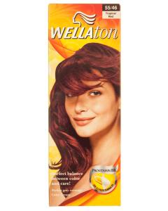 Vopsea de par 55.46 tropical red Wellaton 100ml