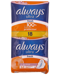 Absorbante Always Ultra Normal Plus Fresh 9+9buc