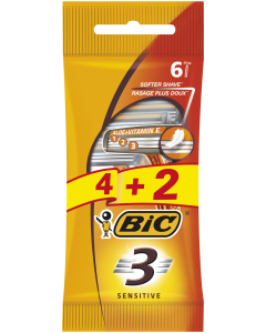 Aparat de ras sensitive BIC 4+2buc
