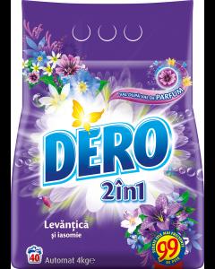 Detergent automat pudra Dero 2in1 Lavanda, 40 spalari, 4kg