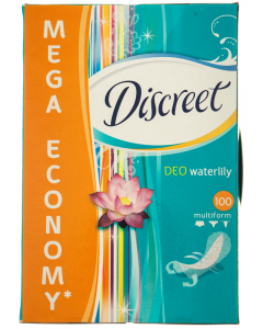 Pachet economic Absorbante zilnice Discreet Deo Waterlily Multiform 100buc