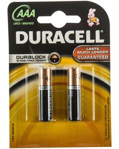 Baterii Alcaline AAA LR03 1.5V Duracell 2buc