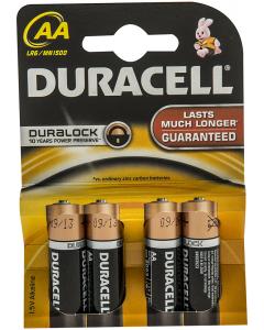 Baterii Alcaline AA LR6 1.5V Duracell 4buc