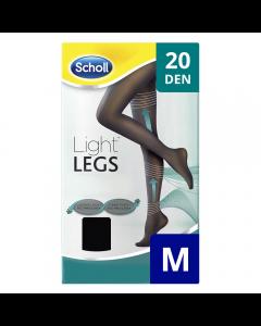 Ciorapi compresivi 20 DEN negru, marime L Scholl Light Legs