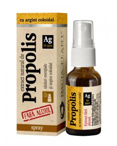 Propolis cu argint coloidal fara alcool spray Dacia Plant 20 ml