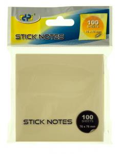 Notes adeziv Snopake Stick Notes, 76x76mm, 100file/bucata