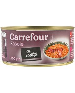 Fasole cu costita Carrefour 300g