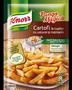 Cartofi la cuptor cu usturoi si rozmarin Knorr Punga Magica 30g