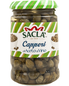 Capere in otet din vin Sacla 200g