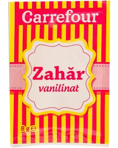 Zahar cu aroma de vanilie Carrefour 8g
