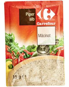 Piper alb macinat Carrefour 15g