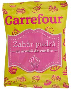 Zahar pudra cu aroma de vanilie Carrefour 80g