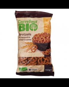 Covrigei cu alac si susan Carrefour Bio 150g