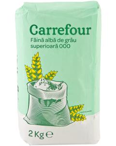 Faina alba de grau superioara 000 Carrefour 2kg