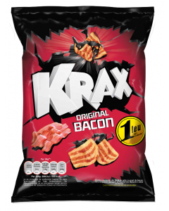 Snacks cu gust de bacon Krax 32g