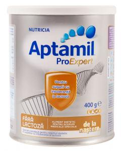 Lapte praf Aptamil fara lactoza Nutricia 400g