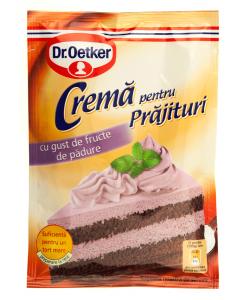 Crema pentru prajituri cu gust de fructe de padure Dr.Oetker 50g