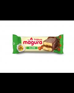 Prajitura cu crema de alune si glazura de cacao si lapte Magura 35g