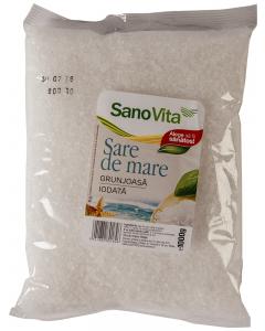 Sare de mare grunjoasa iodata SanoVita 1kg